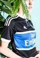 Vintage 1990s Black Adidas Football Shirt