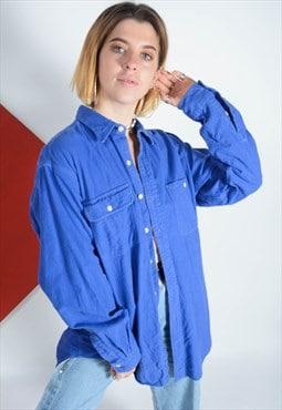 Ralph Lauren Polo flannel shirt in blue