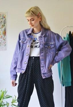 Vintage lilac denim jacket