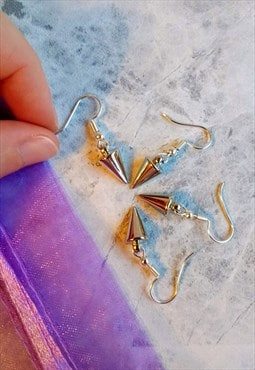 Mini Spike Drop Earrings 2 Pair Set