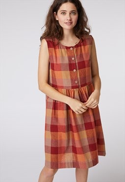 Princess Highway Red Checked Smock Dress