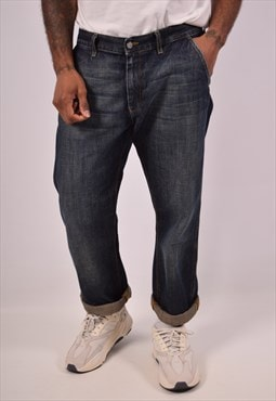 Vintage Calvin Klein Straight Jeans Navy Blue