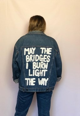 Hand painted non branded Denim jacket