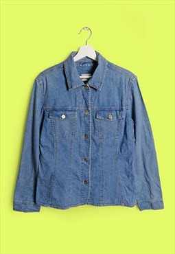 Vintage 90's Betty Barclay Light Stretch Denim Shirt /Jacket