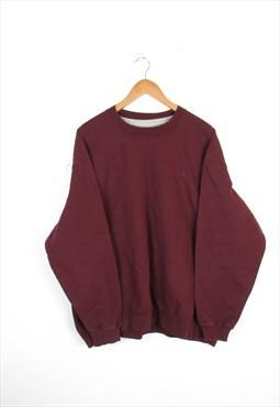 Mens 90s Champion Burgundy Crewneck Logo Sweatshirt XXL