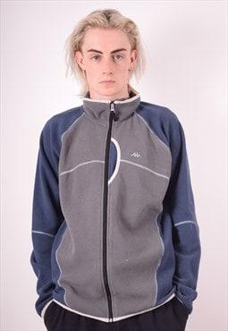 Kappa Mens Vintage Fleece Jacket Large Grey 90s
