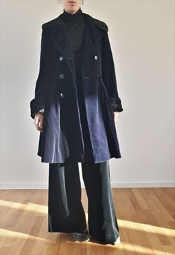 Vintage Guy Laroche Velvet Pleated Coat
