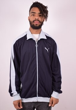 Puma Mens Vintage Tracksuit Top Jacket XL Navy Blue 90s