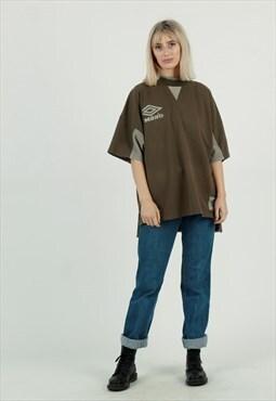 Vintage Umbro pro training short sleeve sweatshirt