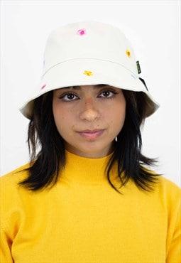 New Floral Pattern Bucket Hat in Beige