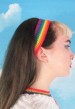 Rainbow Pride Crochet Headband