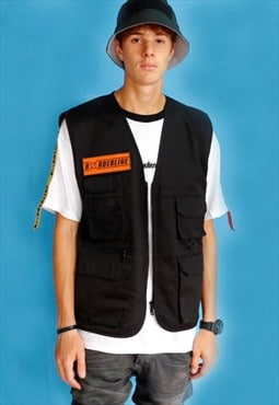 Utility Orange Patch Gilet Vest
