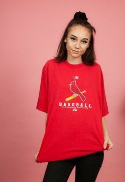 Vintage red Louisville Cardinals Baseball tshirt