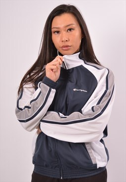 Vintage Champion Tracksuit Top Jacket Blue