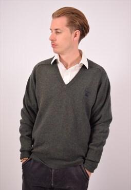 Vintage Burberry Jumper Sweater Green