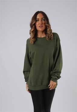 Sweatshirt Jumper Oversized Plain Long UK 14 - 16 (GW5P)