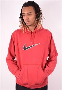 Nike Mens Vintage Hoodie Jumper XL Red 90s