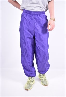 Vintage Tracksuit Trousers Purple
