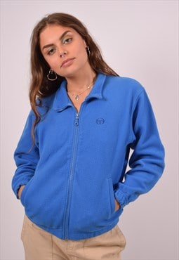 Vintage Sergio Tacchini Fleece Jacket Blue