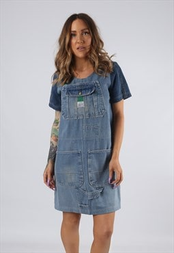 Vintage Denim Dress BICH REWORKED Dungarees UK 8 - 10 (DDA)