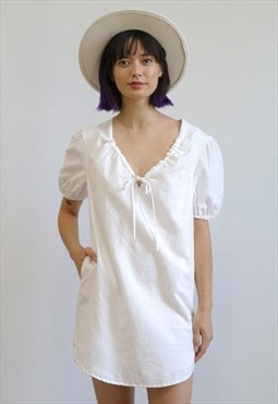 Arlene Linen Dress - White