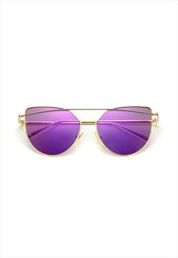 Lucy Cat Eye Sunglasses Purple