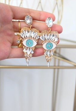 Earrings strass eyes