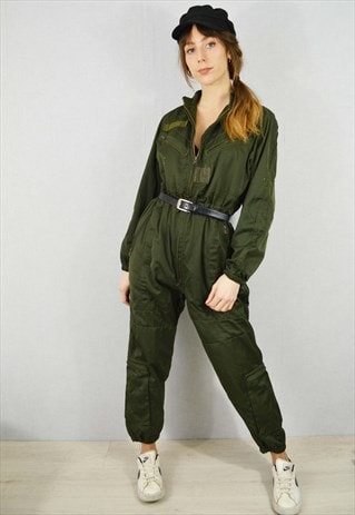 Vintage French Army Overalls Boiler Suit
