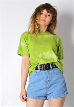 Vintage 90s Green Tie Dye Festival T-Shirt