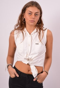 Vintage Calvin Klein Sleeveless Shirt White