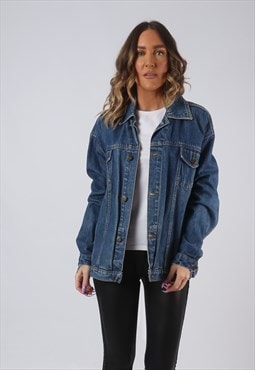 Denim Jacket Oversized Fitted XCLUSIVE Vinatge UK 16  (AW3O)