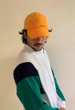 Super weird 90's orange reebok cap hat