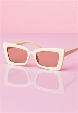 Bring It Back Sunglasses - CREAM