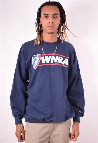 CHAMPION MENS VINTAGE WNBA SWEATSHIRT JUMPER XXL NAVY 90S