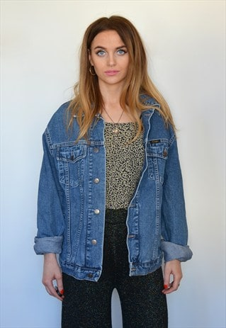 VINTAGE 90S OVERSIZED BLUE DENIM JACKET