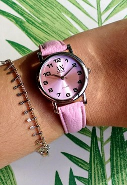 Classic Super Slim Pastel Pink Watch
