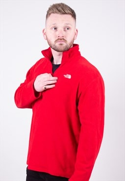 Vintage 1/4 Zip Red Fleece The North Face