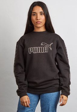 Vintage 90's Puma black logo sweater