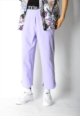 Vintage 90s UNISEX Pastel Purple Linen Blend Pants