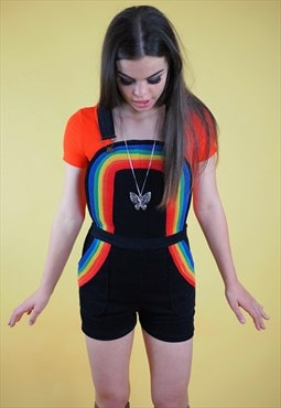 Rainbow Dungaree Shorts