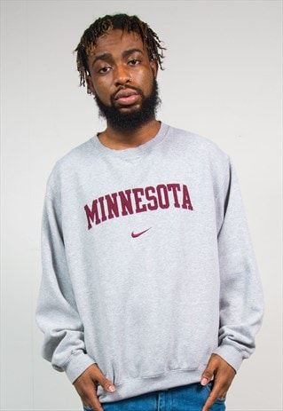 90'S NIKE MINNESOTA GREY COLLEGE SWEATSHIRT
