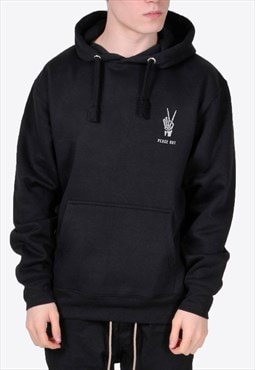 Black Peace Out Hoodie