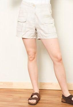 Vintage 90's Linen Women Shorts