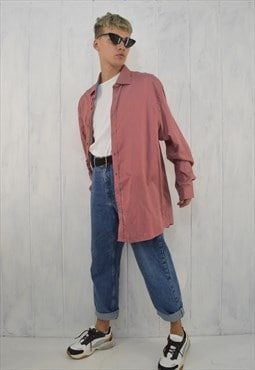 Vintage striped two colour oversize shirt