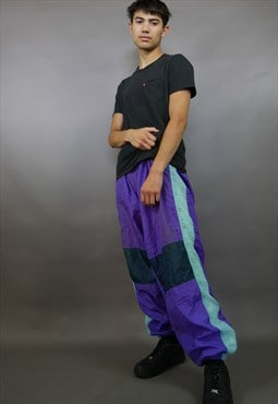Purple Shell Suit Bottoms Joggers