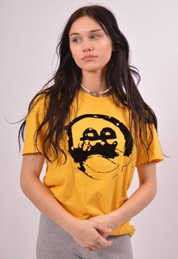 Vintage Lee T-Shirt Top Yellow