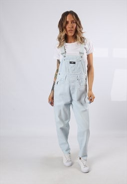 Denim Dungarees COLOURED Wide Tapered Leg UK 10 (62R)