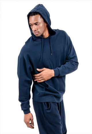 OVERSIZED HOODIE IN NAVY WITH POUCH POCKET
