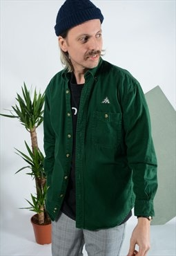 Vintage LEE workwear shirt in green with embroidery