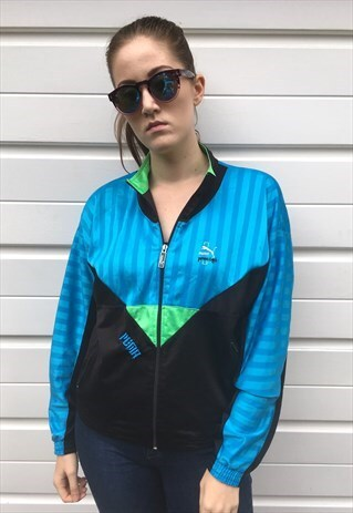 WOMENS PUMA VINTAGE 80S SPORTS FESTIVAL SPORTS ZIP UP JACKET